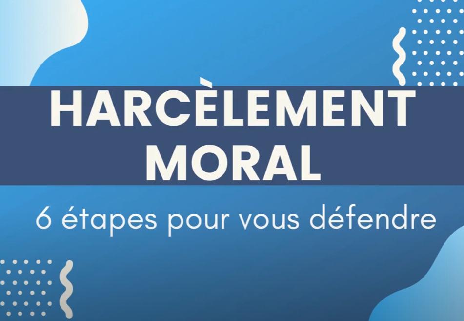Vidéo sur le Harcèlement Moral au Travail